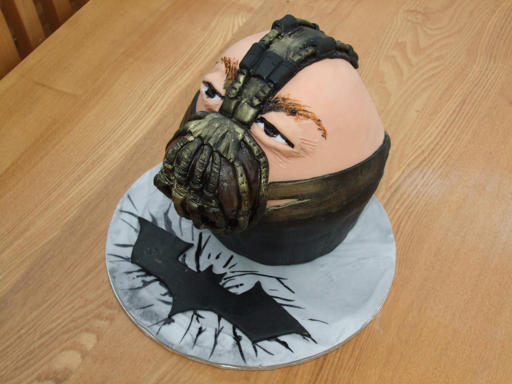 The Dark Knight Rises Bane Cake By Superspy On DeviantArt - Dark knight birthday cake