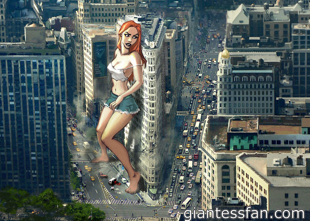 Giantess in New York City by