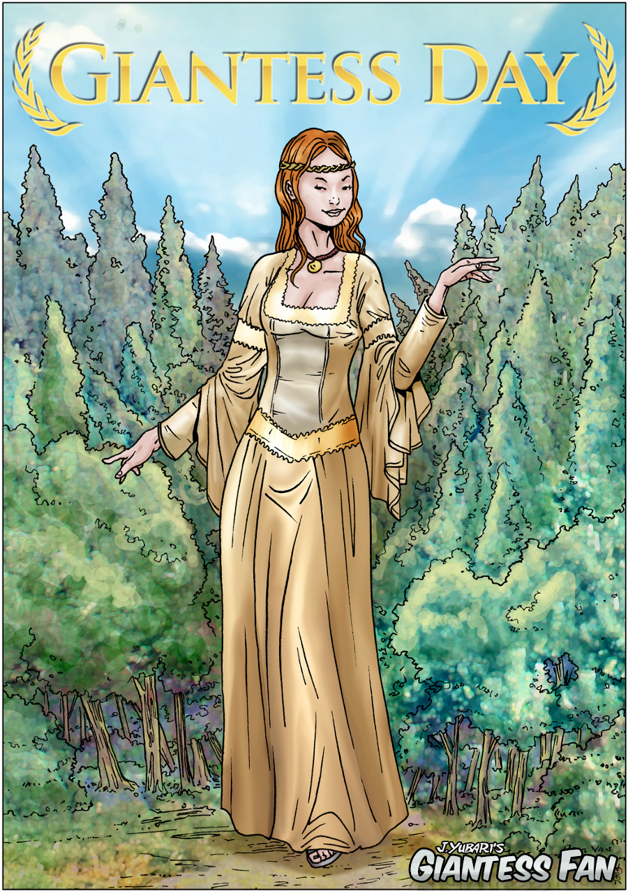 Giantess Day Comic Book Cover by giantess-fan-comics
