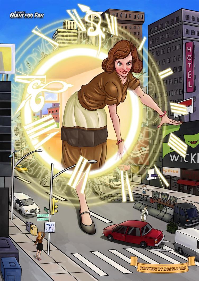 Time Traveling Giantess by giantess-fan-comics