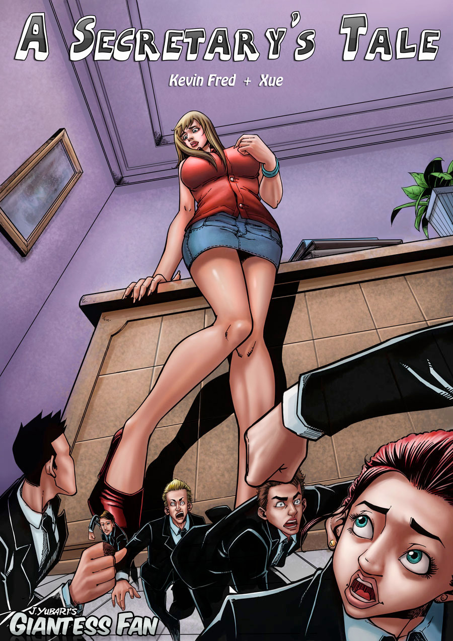 A Secretary's Tale comic book - unaware, crush by giantess-fan-comics