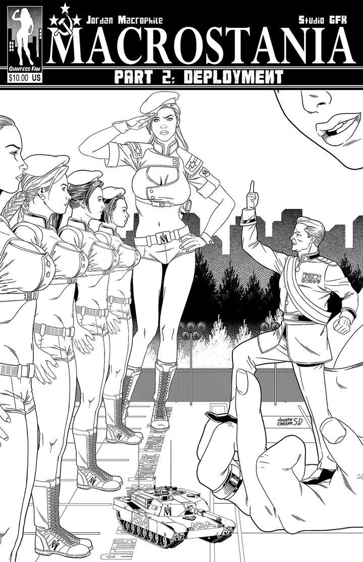 Macrostania 2 Cover - Work in Progress by giantess-fan-comics