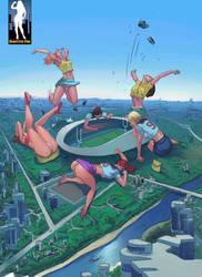 Giantess Football Fanatics by giantess-fan-comics