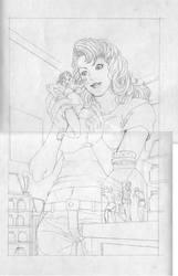 Shrunken Woman Sketch by giantess-fan-comics