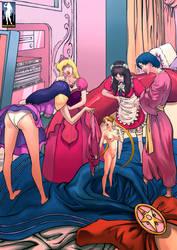 Shrunken Sailor Scouts by giantess-fan-comics