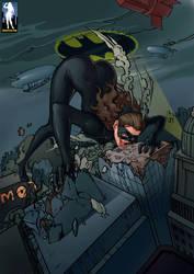 Catwoman Eats Gotham City Residents by giantess-fan-comics