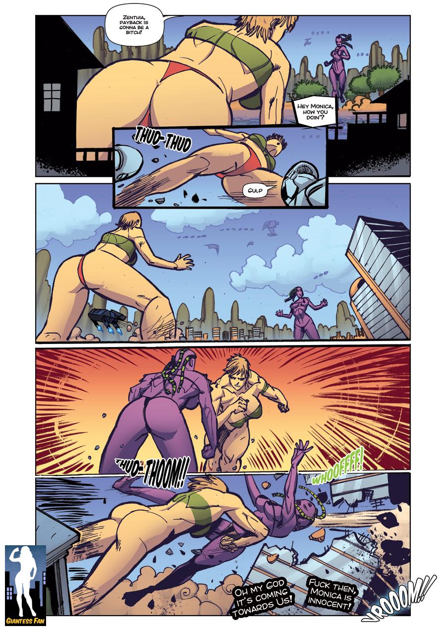 Giantess Catfight by giantess-fan-comics