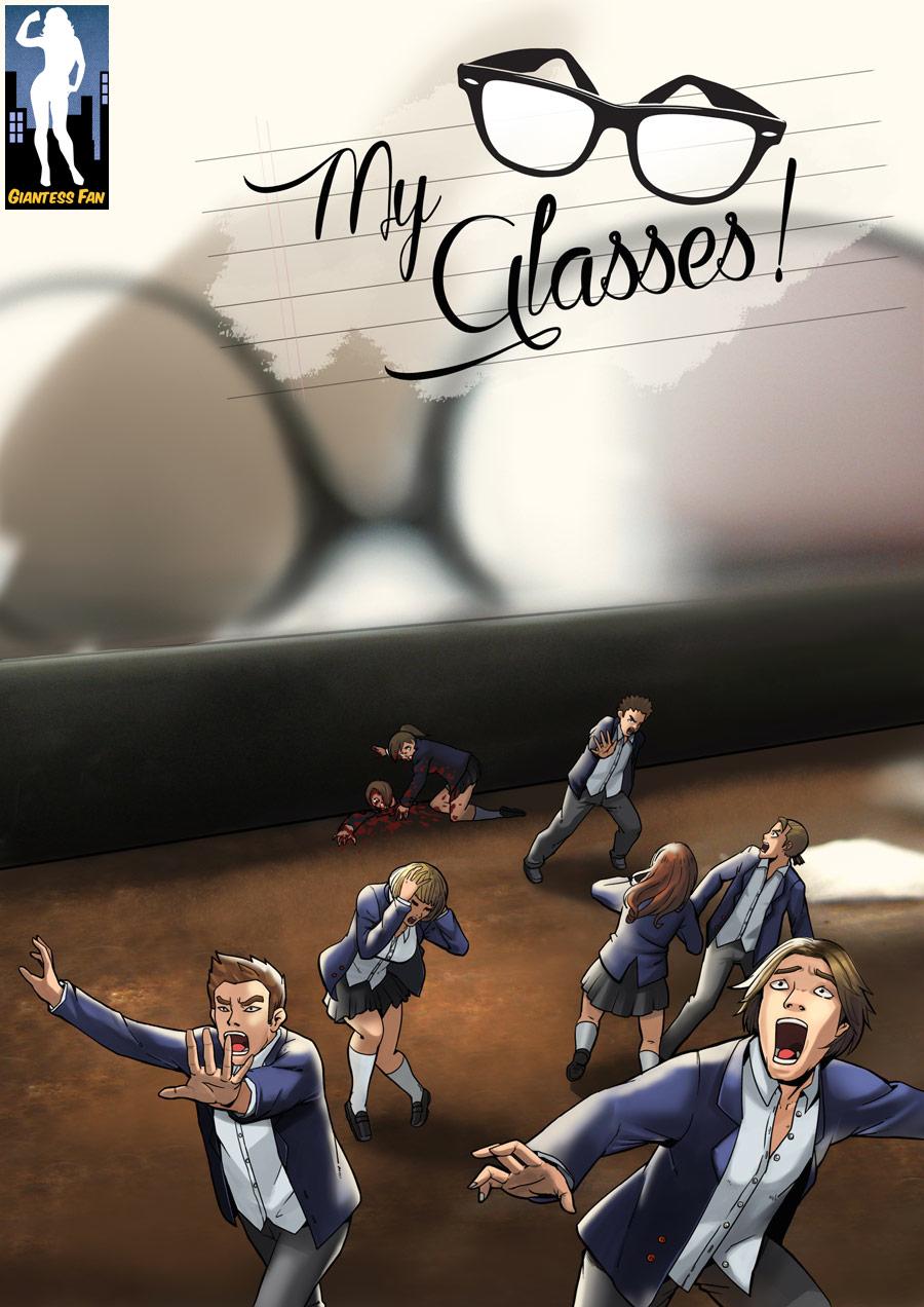 Crushed By Karma - My Glasses! by giantess-fan-comics