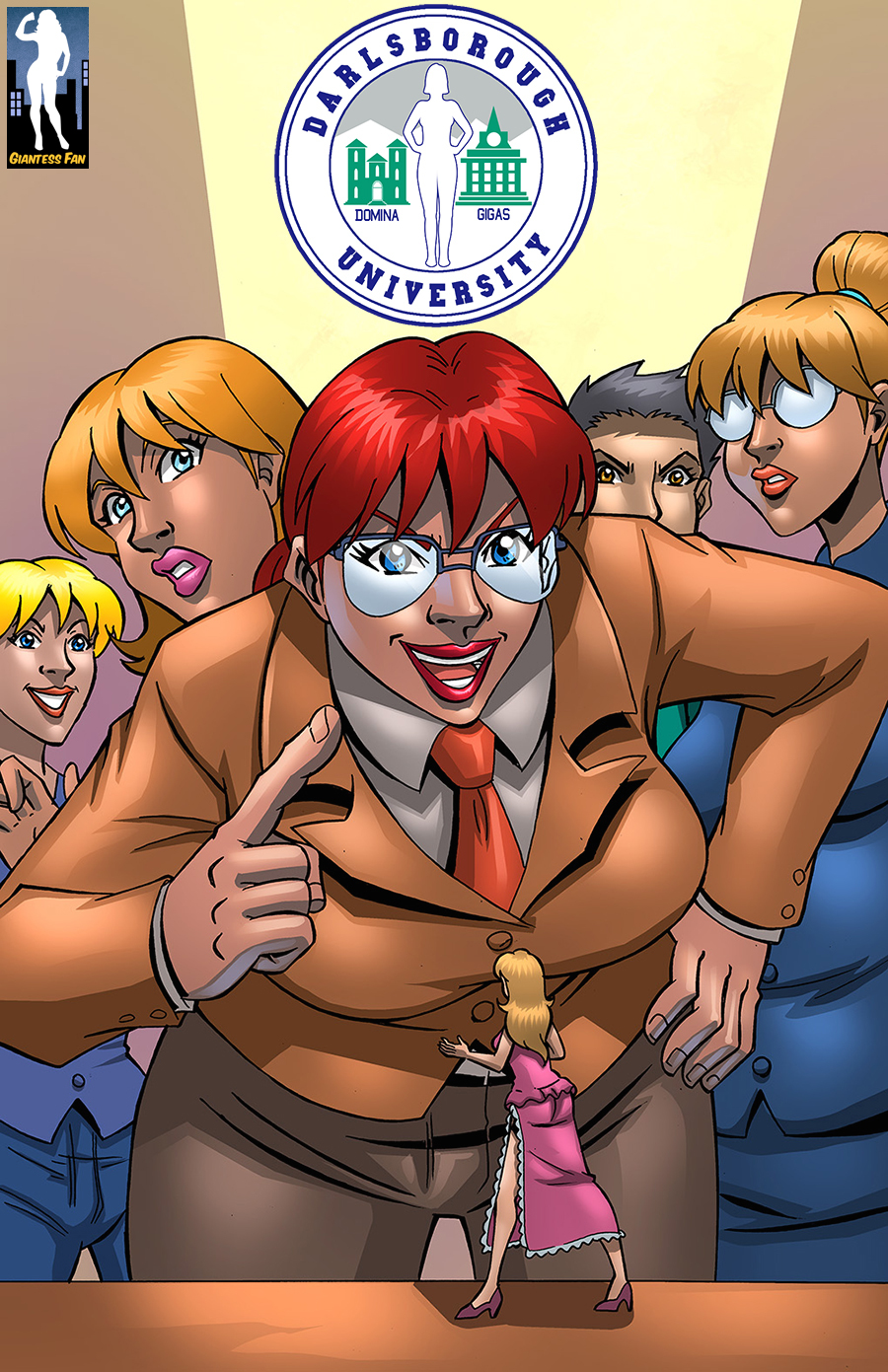 Darlsborough University 4 - The Ethics Committee by giantess-fan-comics