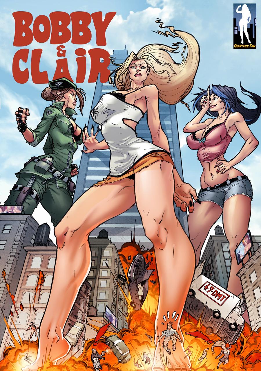 Triple Giantess Rampage - Bobby and Clair 2 by giantess-fan-comics