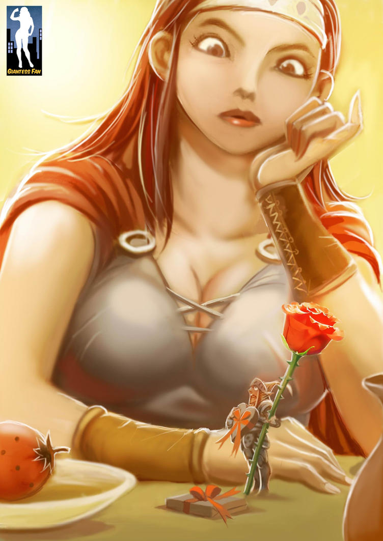 Tiny Knight, Big Heart - The Green Goddess Inn 4 by giantess-fan-comics