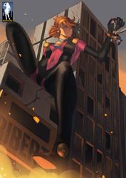 Giantess Gundam by giantess-fan-comics