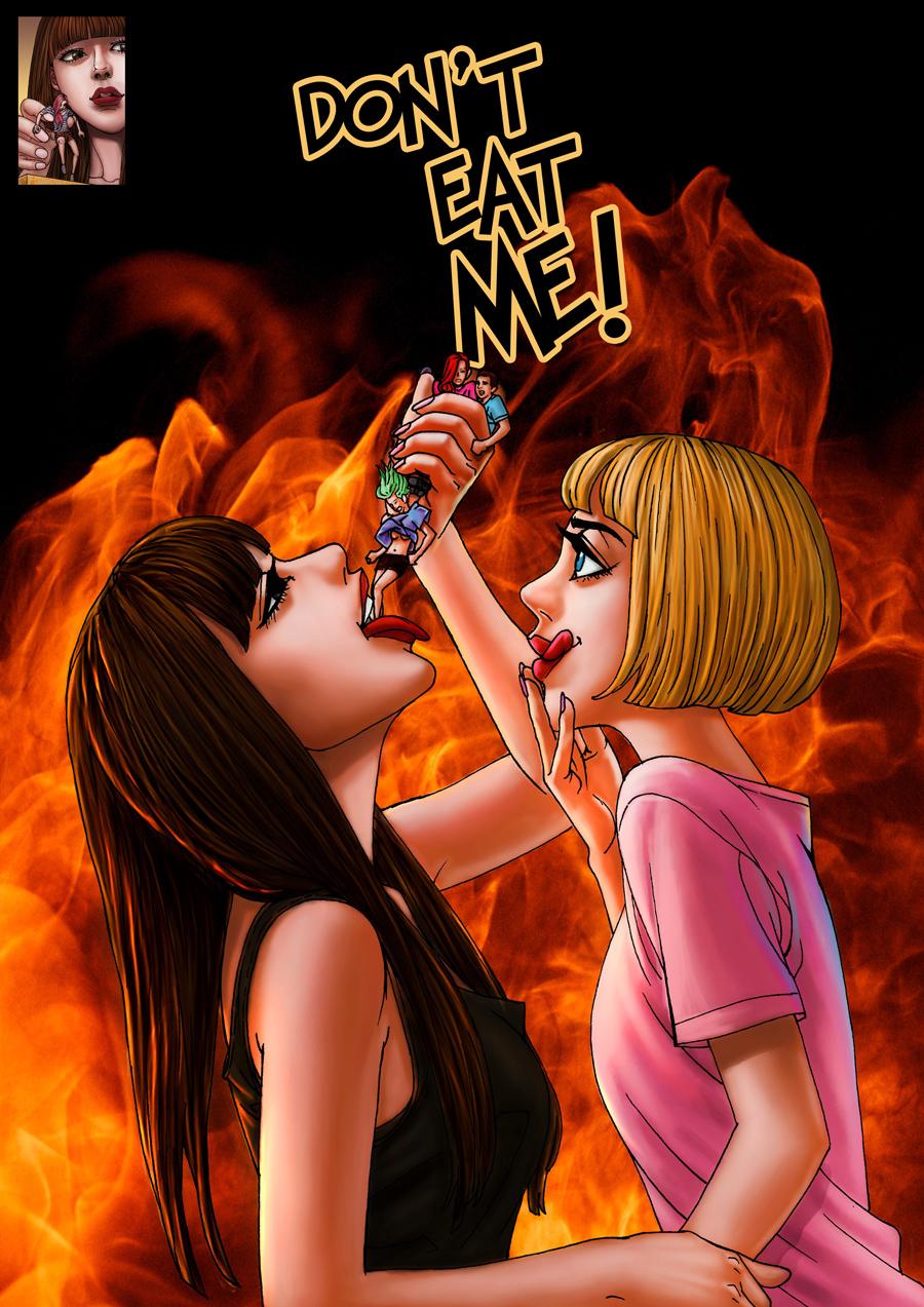 Vore Enthusiasts- Don't Eat Me 2 by giantess-fan-comics