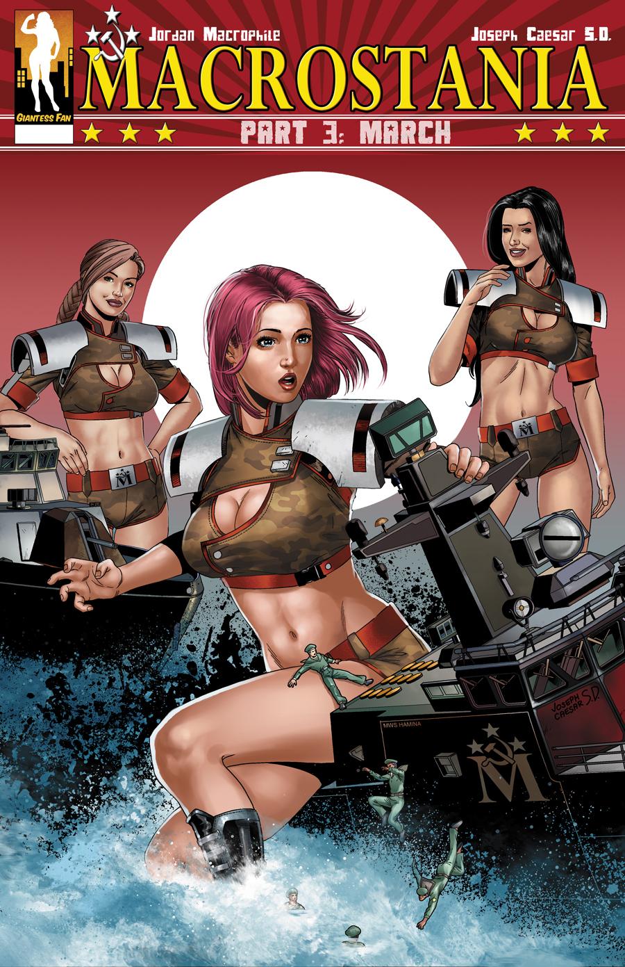 Macrostania 3 - March by giantess-fan-comics