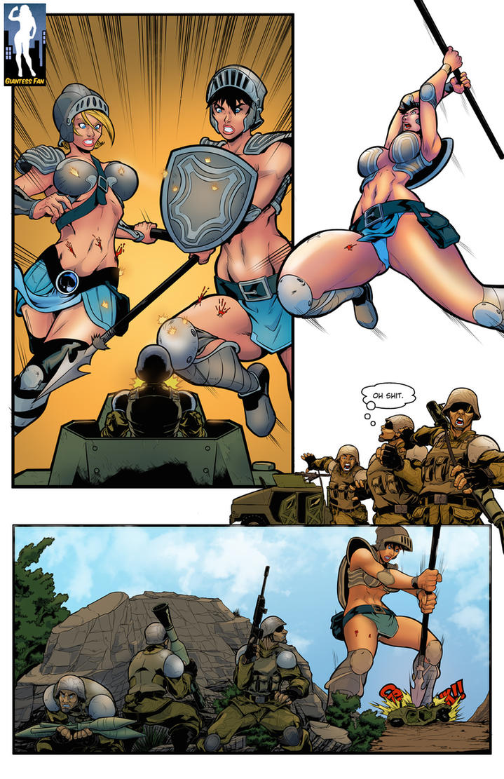 Battlefield Giantess by giantess-fan-comics
