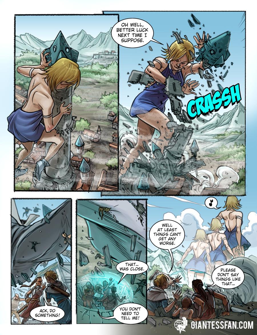 Toppling Towers by giantess-fan-comics