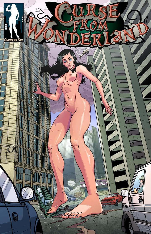 Curse From Wonderland - An Urban Giantess Fantasy by giantess-fan-comics