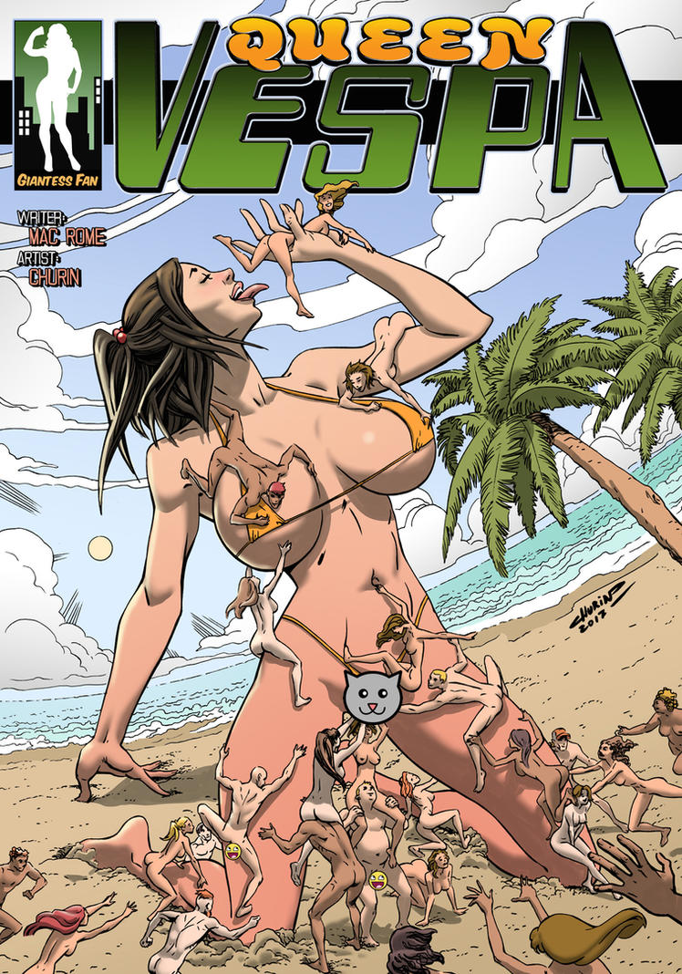 Queen Vespa 2 - Growing Huge and Getting Horny by giantess-fan-comics