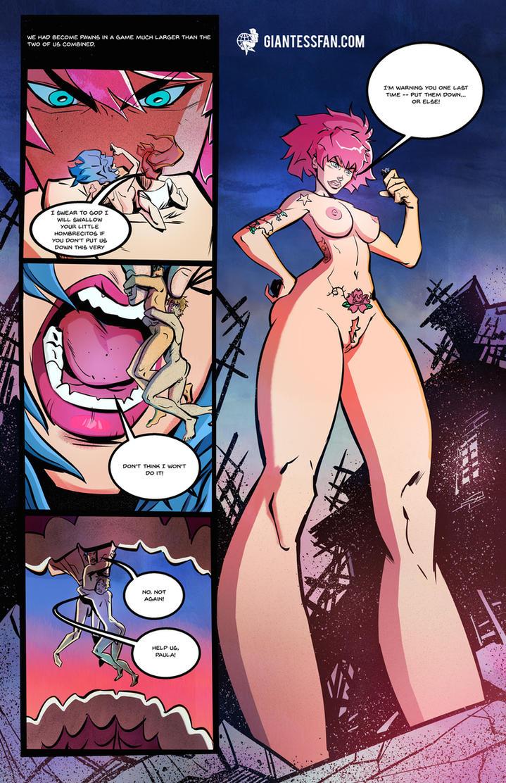 Giantess Threatens Women Threatening Shrunken Men by giantess-fan-comics