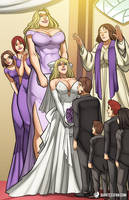You May Kiss the Bride (If You Can Reach) by giantess-fan-comics