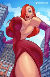 Who Grew Jessica Rabbit? by giantess-fan-comics