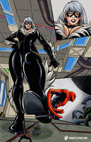 Black Cat? Lucky for Spidey by giantess-fan-comics