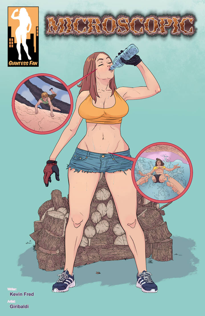 Microscopic 2 - A Little Sweat Never Hurt Nobody by giantess-fan-comics