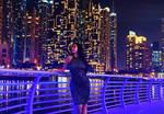 Night at Dubai Marina by BornOfLight
