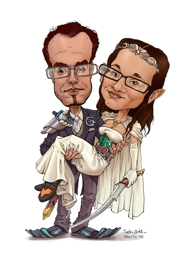 Wedding cartoon by Lirael42