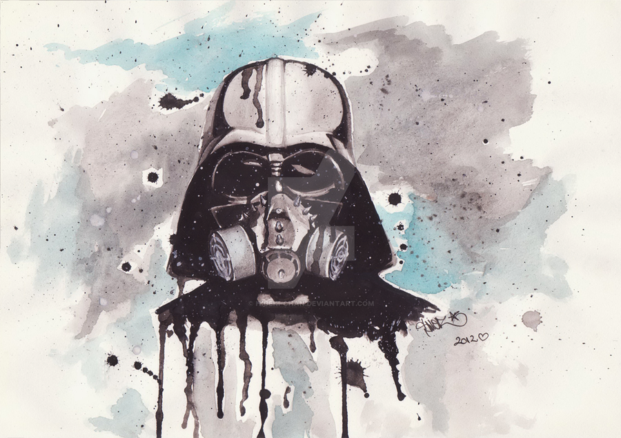 Darth Vader with a mask! by Higeki-chan on DeviantArt