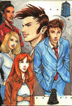 doctor who: tenth doctor with friends