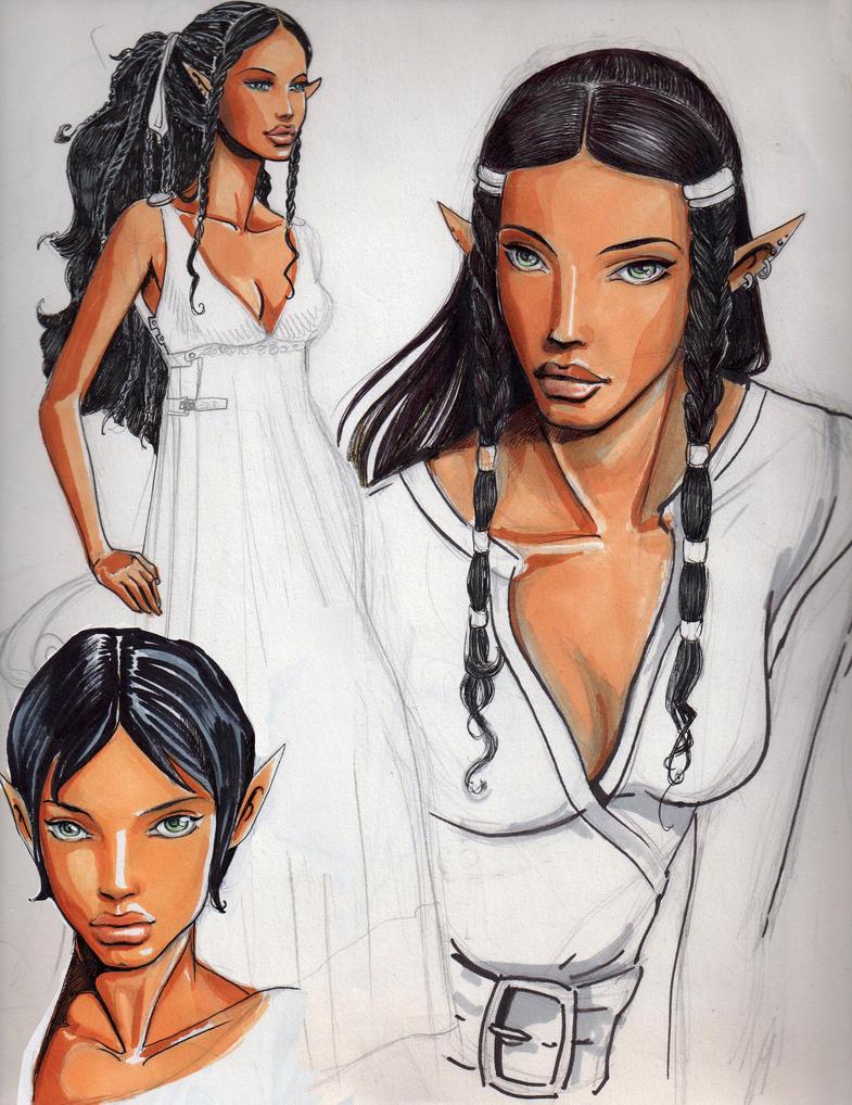 my black female elf by dameeleusys on deviantart