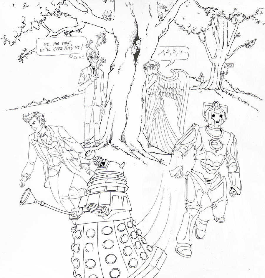 The gallery for doctor who dalek coloring pages for Doctor who tardis coloring pages