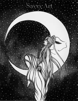 A moon and her princess