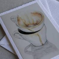 Coffee cups greeting card by JennyHaslimeier