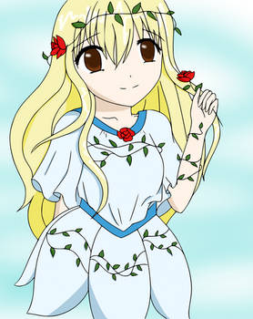 flower girl lineart colored