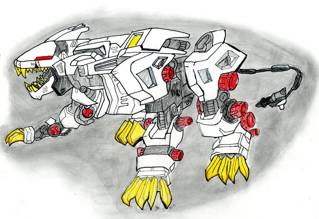 Zoids: Liger Zero (colored) by jazzy-prowlerlover