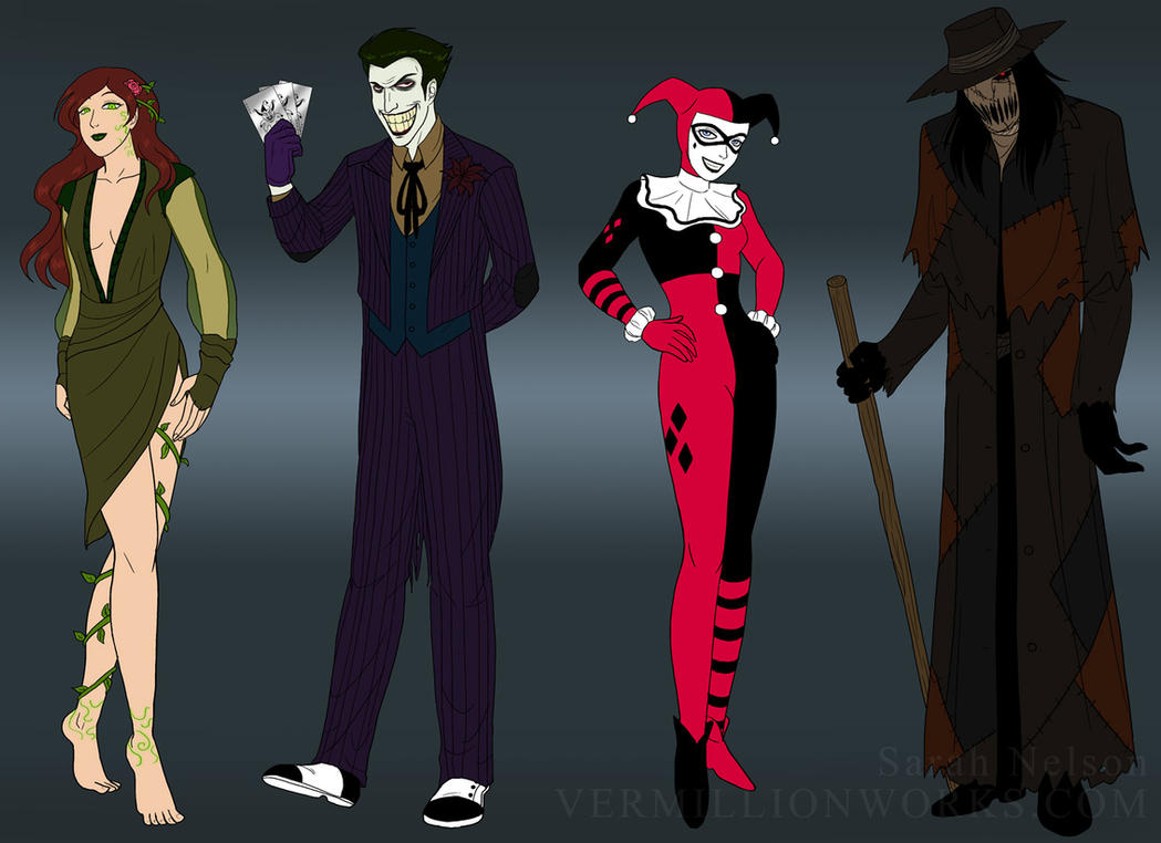 Gotham Rogues - Batman Redesigns by sarahn