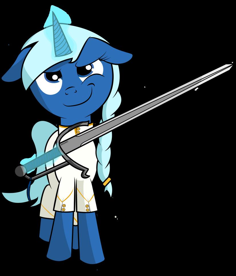 Polynya Smirking with a Big Sword by ZeEliteChicken
