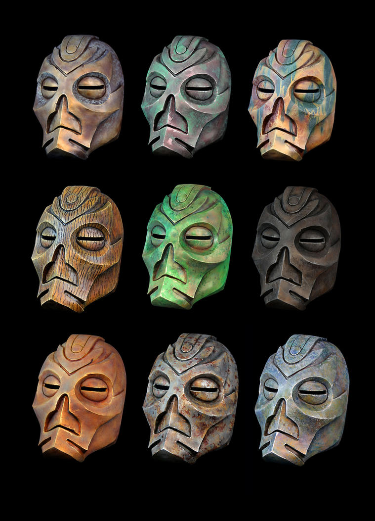 Skyrim Dragon Priest Masks by Jay-Michael-Lee