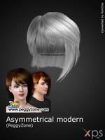PeggyZone - Asymmetrical modern haircut for XPS by RonDoe