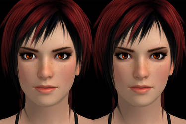 Mila face side-by-side 3D by RonDoe