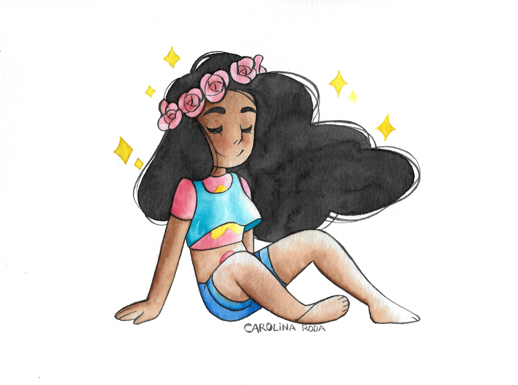 Well, I did this painting and I was super exited to post it because I didn't post any SU watercolor in a loooooooong time, but I messed it up, and I'm posting it anyway because I loove it, and mayb...