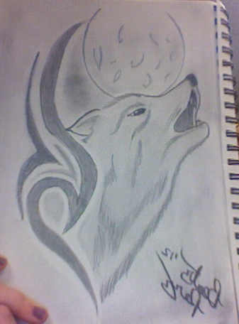 How to draw wolf howling at the moon how to draw wolf howling at the moon photo12 ccuart Gallery