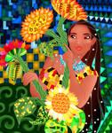 Pocahontas: Gustav Klimt style