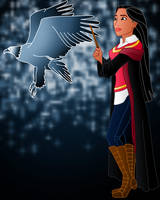 Disney Hogwarts students: Pocahontas by Willemijn1991