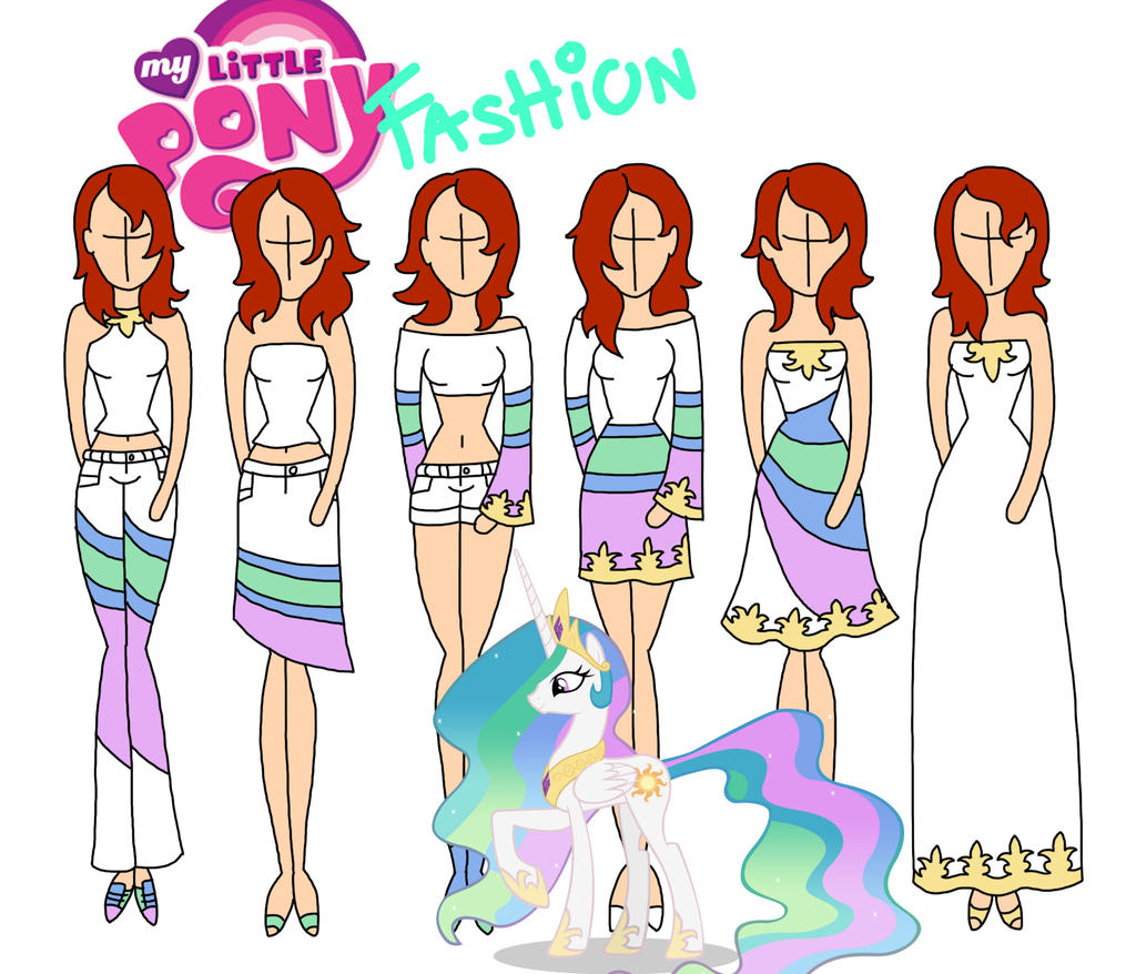 My Little Pony Fashion Celestia By Willemijn1991 On Deviantart