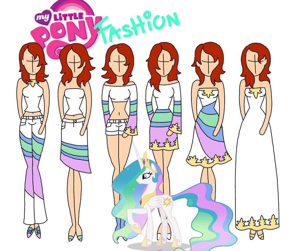 My Little Pony fashion: Celestia by Willemijn1991