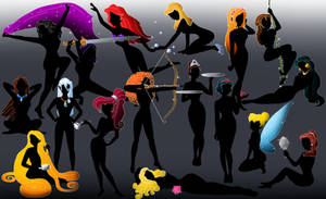 All the Disney silhouettes