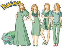 Pokemon Fashion: Bulbasaur by Willemijn1991